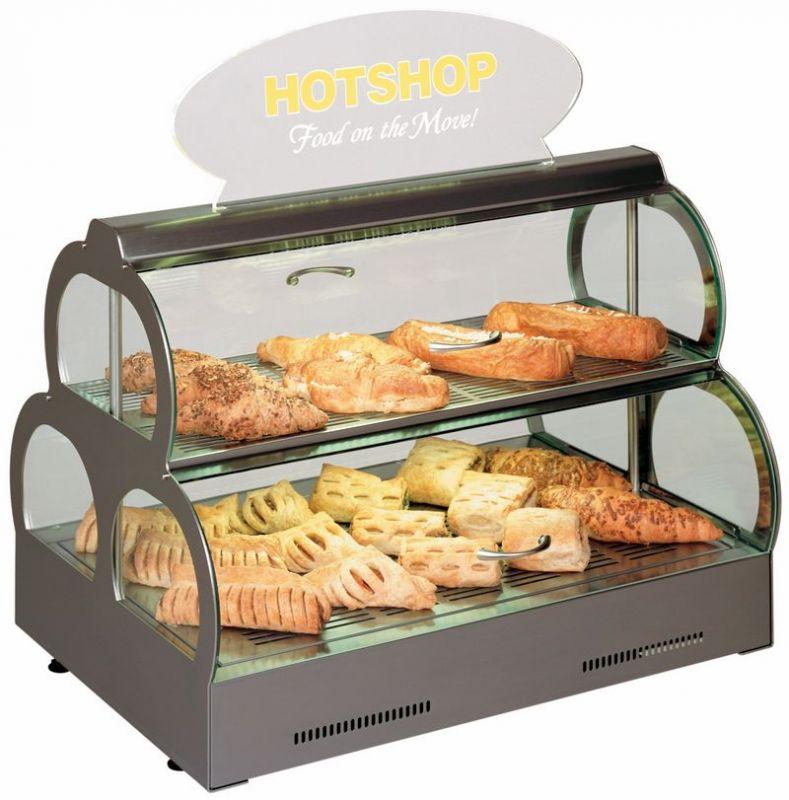Stolní teplá - ohřevná vitrína Hot Spot s reklamním panelem HotSpot+PANEL
