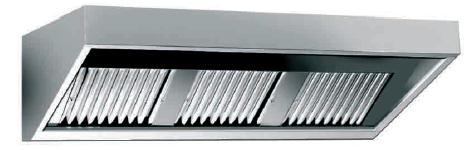 Nástěnný odsavač par - digestoř 1000x700x450mm - bez motoru WHE100/70
