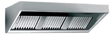 Nástěnný odsavač par - digestoř 1600x700x450mm - bez motoru WHE160/70