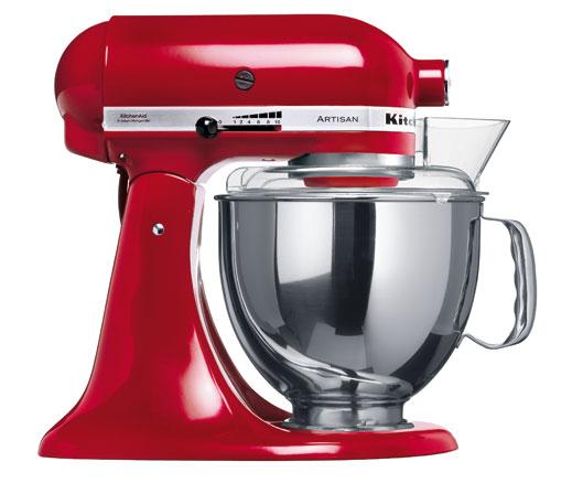 Universální kuchyňský robot KITCHEN AID ARTISAN KSM-150 královská červená - DÁREK + DOPRAVA ZDARMA 5KSM150PSEER