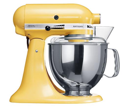 Universální kuchyňský robot KITCHEN AID ARTISAN KSM-150 žlutá - DÁREK + DOPRAVA ZDARMA 5KSM150PSEMY
