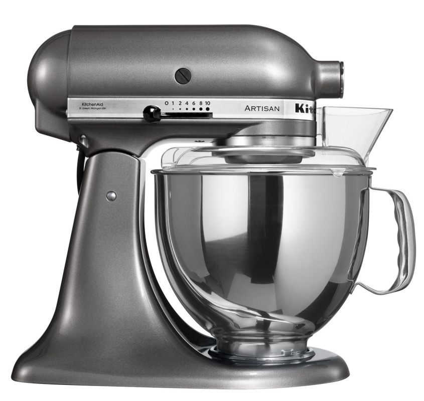 Universální kuchyňský robot KITCHEN AID ARTISAN KSM-150 stříbřitě šedá - DÁREK + DOPRAVA ZDARMA 5KSM150PSEMS