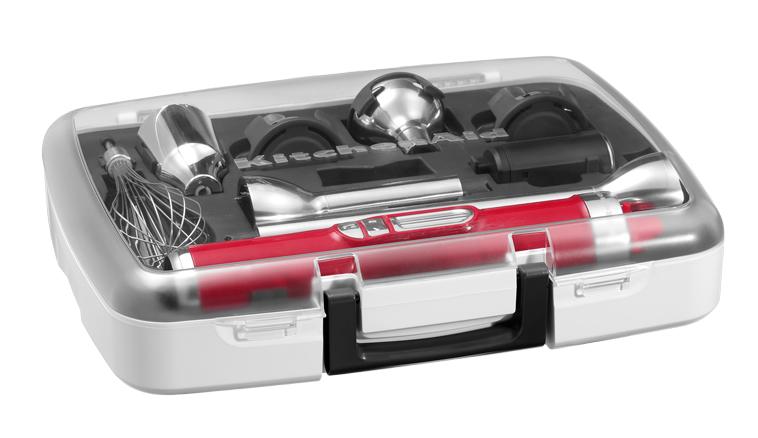 Bezdrátový tyčový mixér s příslušenstvím KITCHEN AID KHB-3581 - červená metalíza - DOPRAVA ZDARMA 5KHB3581ECA