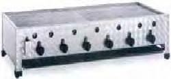 Plynový gril stolní vysokokapacitní GBT6-K GBT6-K